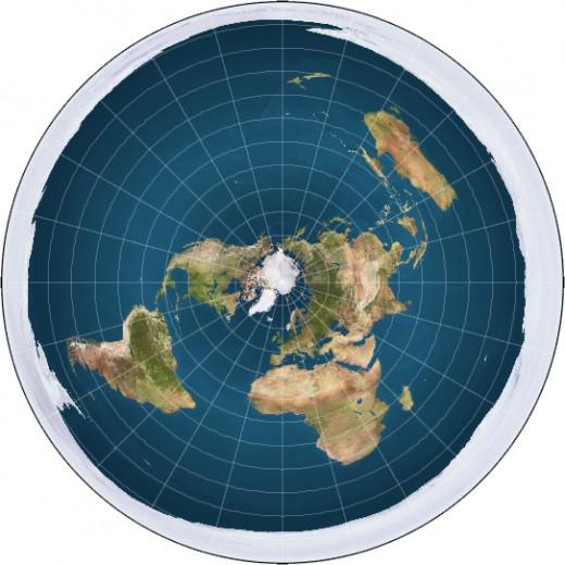 A flat earth world map