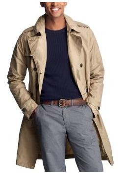 Men's short trench coat