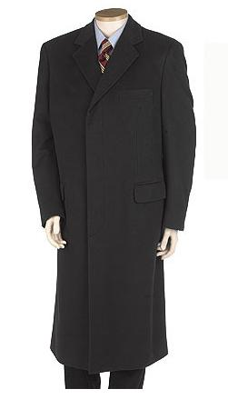 Men's full length trench coat