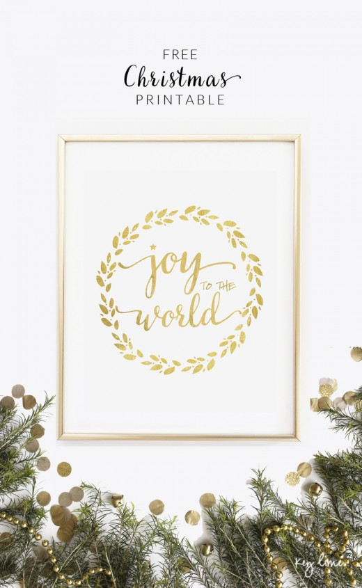 This printable Christmas decoration is simple but elegant