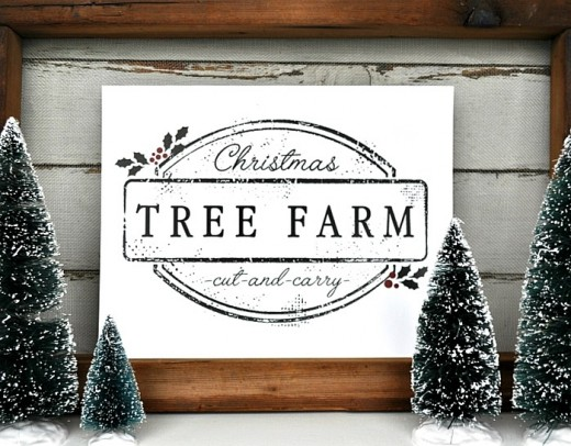 I love this printable Christmas tree farm sign, it brings me a feeling of how Christmas used to be.