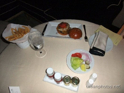 Encore room service... a $20 burger and fries
