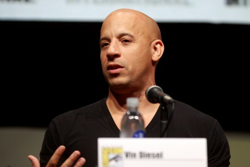 Vin Diesel speaking at the  2013 San Diego Comic  Con International