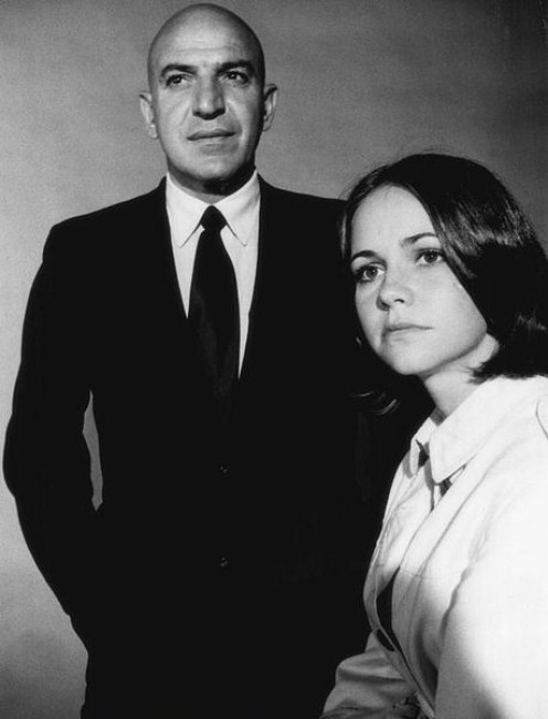 """Telly Savalas and Sally Field   """"Mongo's Back in Town""""  Press Photo"""