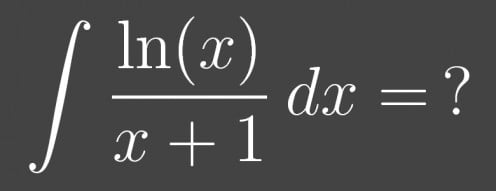 How to Integrate ln(x)/(x+1)