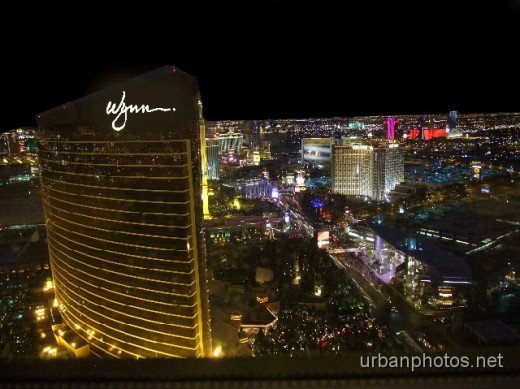 Night view from Encore room 6226