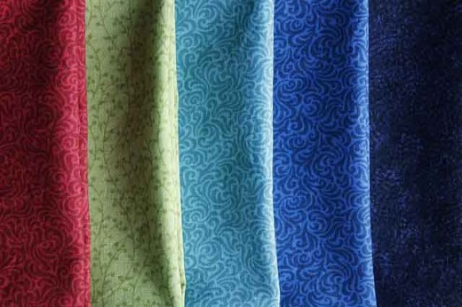 Cotton broadcloth is the most durable and popular fabric choice for quilting.