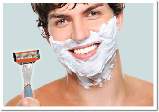 Using a high quality razor and shave cream is best to avoid shaving rash and in grown hairs later on
