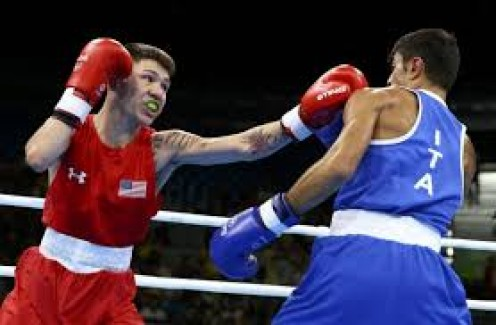 Nico Hernandez, seen sticking the jab, had an extremely successful career as an amateur boxer. I cannot wait to see how this kid transitions to the pro game.
