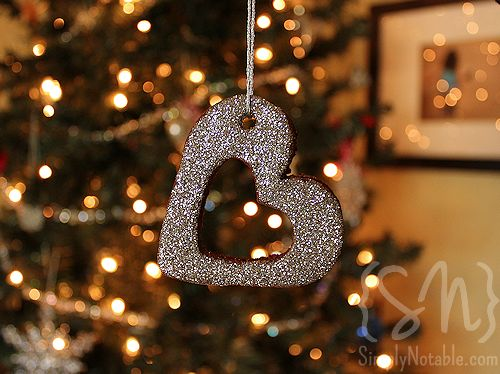 Add some Mod Podge and glitter to your cinnamon ornaments to make them shine