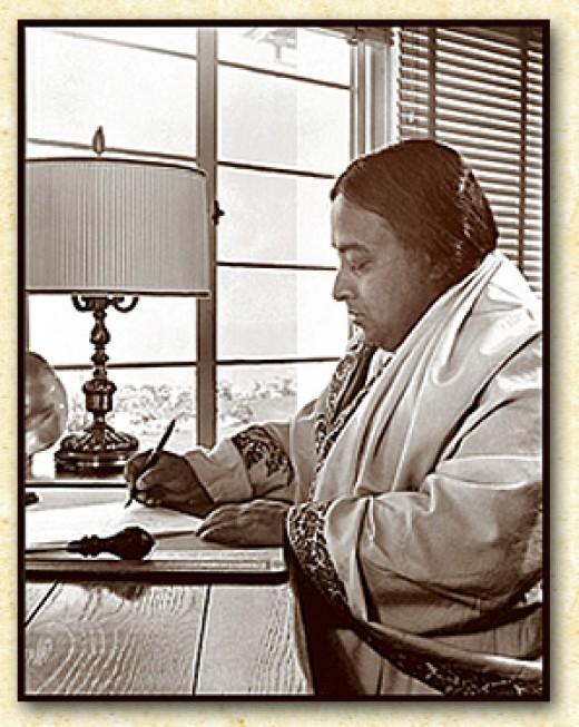 Guruji Writing at Encinitas