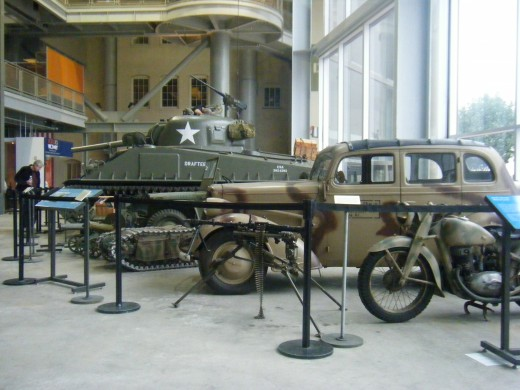 Military exhibits in the National WW II Museum