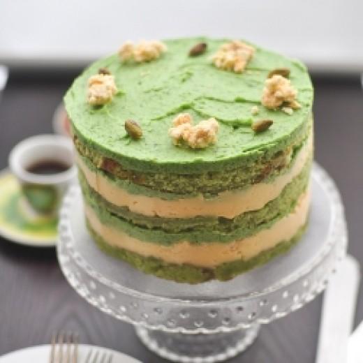 Matcha Pistachio Chocolate Sesame Mousse Cakes