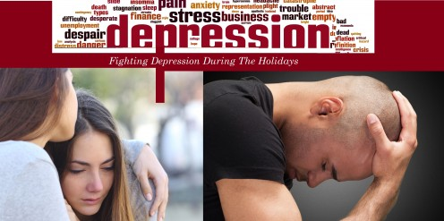 A young woman and man struggling with heartache and tragedy during the Holidays.