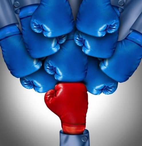 The red boxing glove representing bold faith against depression.