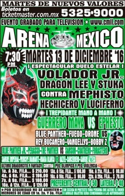 CMLL Tuesday Preview: Maya-Ephesto