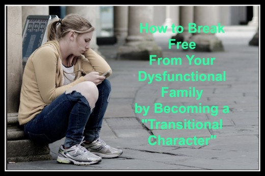 """Instead of remaining a victim take action and become a """"transitional character."""""""