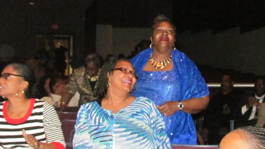 Members of the audience that enjoyed the music that included oldies by DJ Gary O, during the intermission.