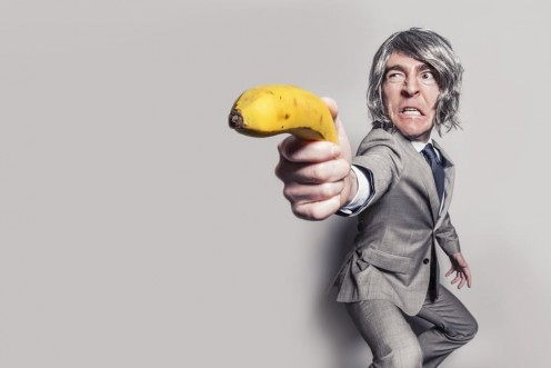 """""""Don't threaten your friends with a banana! """""""