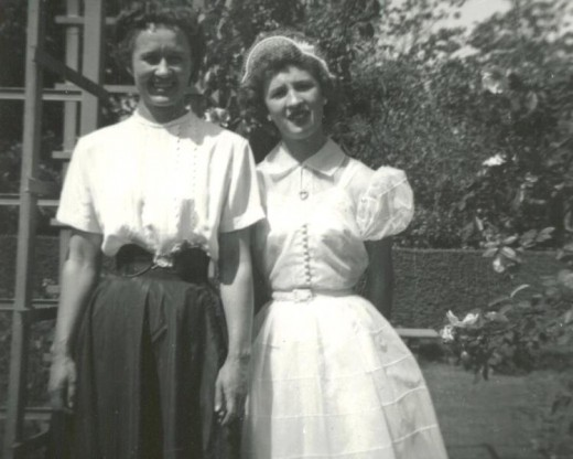 Louise at thirty-four with her niece.