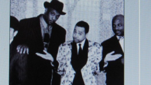 Morris Day, is photographed with members of his band The Time.