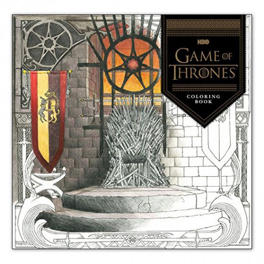 Like to color?  Do you find it relaxing after watching Game of Thrones on TV?  Here's the perfect coloring book for you.