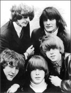 Crosby (at lower left) with the Byrds