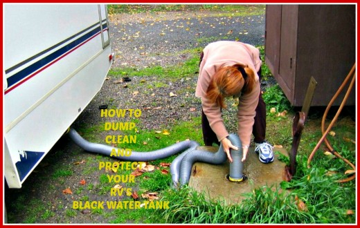 Directions for properly cleaning and maintaining the black water tank in your RV.