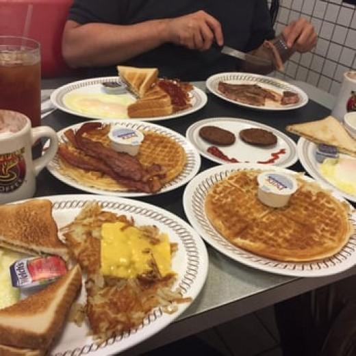 Food on Waffle House's menu