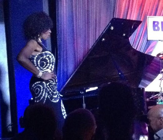 Performing at her Record Release Party inside the famed, Blue Note night club in NYC.