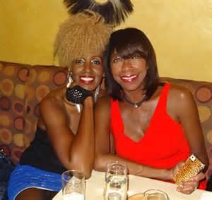 Aziza and Natalie at Ashford and Simpson's Sugar Bar club in NYC after Aziza's show.