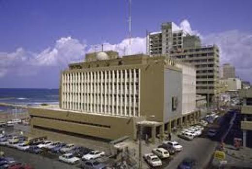 The American Embassy in Tel Aviv.