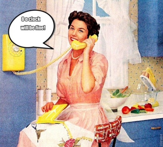 1950's woman on telephone