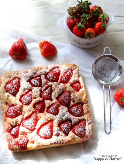 Strawberry focaccia bread