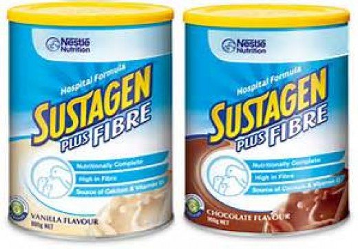 Hosptial grade Sustagen is available in a couple of flavours.