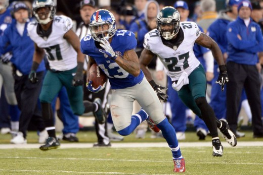The Eagles defenders are going to be chasing NY Giants WR Odell Beckham Jr all night on Thursday