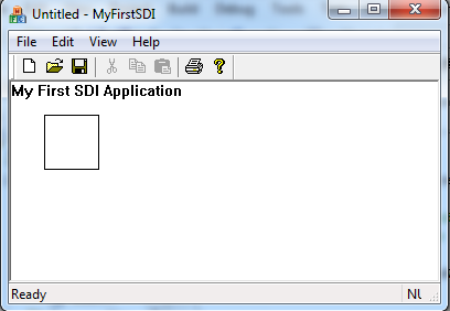 SDI Application Window (Resized)