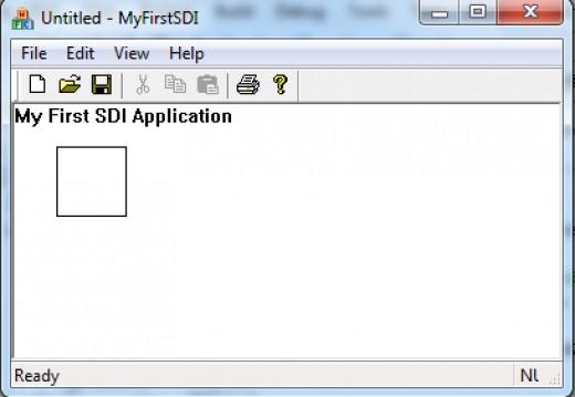 SDI Application Window (Resized)