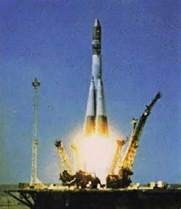 Vostok 1 launch- when Yuri Gagarin became the first man in space.