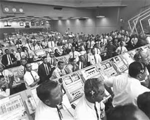Mission control at NASA when Apollo 11 launched.