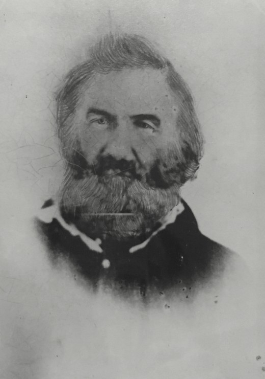 Cornelius Dunham, founder of the Valley View Cemetery, he is also buried in there alongside his wife, Margretta Dunham.