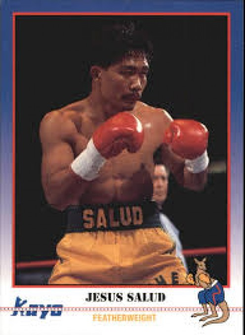 Former world champion Jesus Salud has his own Kayo boxing card which was a first edition that was released originally in 1991.