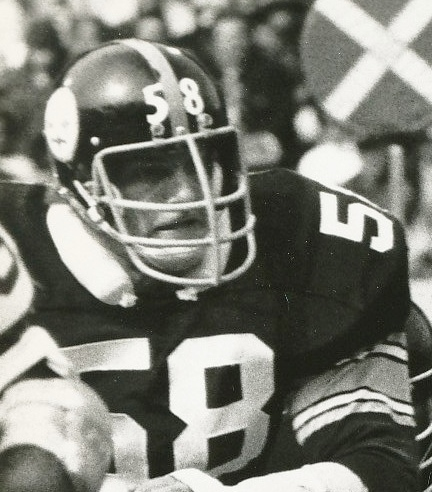 Jack Lambert No. 58 of  Pittsburg Steelers' Steel Curtain