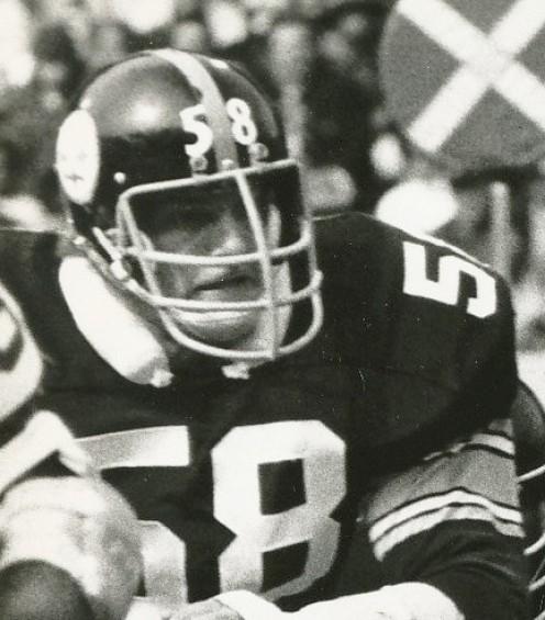 Jack Lambert No. 58 of  Pittsburg Steelers' Steel Curtain