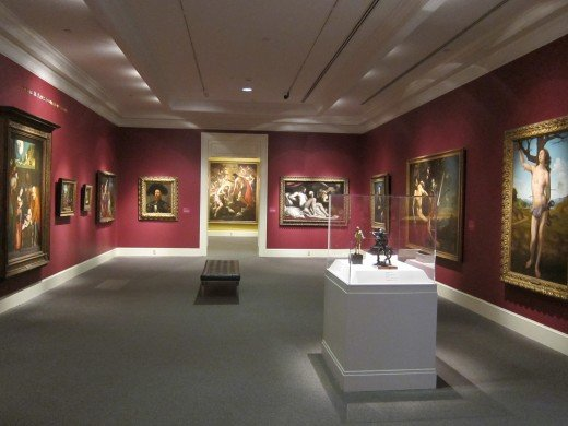 A gallery in the museum