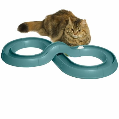 The Bergan Turbo Track is a track with a ball in it. You can change the track if you like to switch up the level of fun your cat will have.