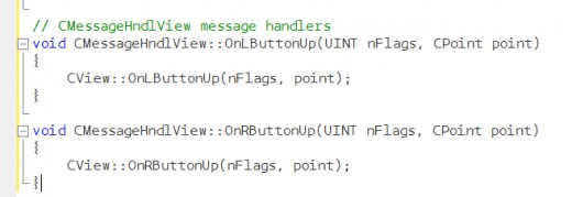 Mouse handler dummy implementation