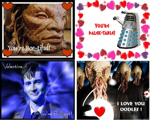 Four great Doctor Who Valentine's cards here...