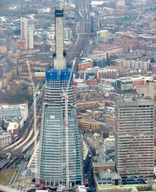 The Shard - taken from a helicopter tour