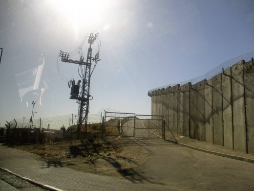 Security wall that separates the West Bank from Israel